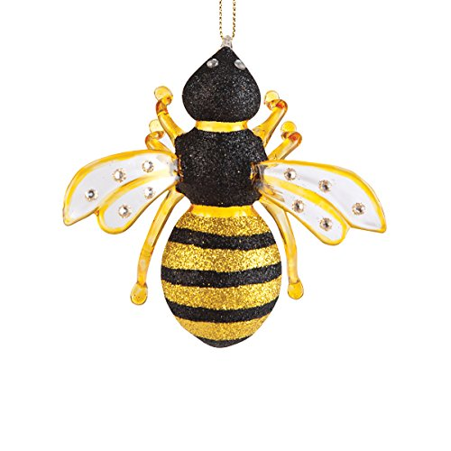 C&F Home Bumble Bee Christmas Xmas Ornament Black and Yellow