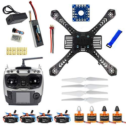 QWinOut DIY RC Drone Quadrocopter Full Kit X4M380L Frame Kit QQ Super AT9 TX RX