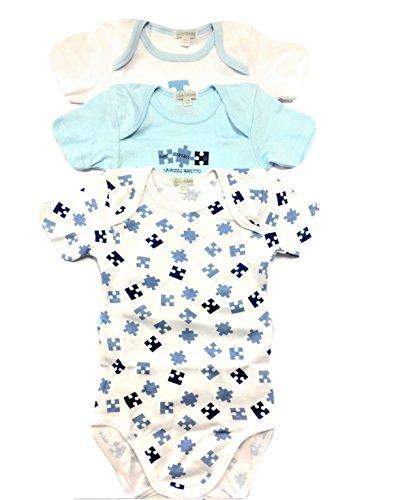 Set 3 body neonato PASTELLO  Cotone Manica Corta Taglie da 0 a 36 mesi