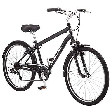 Schwinn Suburban Men's Comfort Bike 26  Wheels, 18  Medium Frame Size, Black
