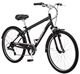 Schwinn Suburban Comfort Hybrid Bike, Featuring Step-Over Steel Frame and 7-Speed Drivetrain with 26-Inch Wheels, Medium/18-Inch Frame,...