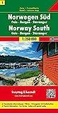 Sur de Noruega, Oslo, Bergen, Stavanger mapa de carreteras. Escala 1:250.000. Freytag & Berndt.: Toeristische wegenkaart 1:250 000: AK 0655 (Auto karte)