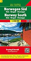 Norway South - Oslo - Bergen - Stavanger Sheet 1 Road Map 1:250 000 (Country Road & Touring)