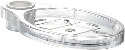 Taglia libera Portasapone a forma di foglia per il bagno Come da immagine per asta doccia a casa grande supporto stabile in ABS galvanizzato avvitato salvaspazio regolabile facile da installare