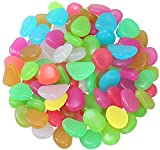 tintoke 300 piedras fluorescentes que brillan en la oscuridad, piedras luminosas, piedras luminosas, para decoración de caminos de jardín, macetas y acuarios