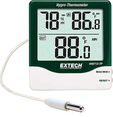 Extech Hygro-Thermometer mit großer Ziffernanzeige für den Außen/und Innenbereich, 1 Stück, 445713-TP