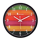 Amazon Brand - Solimo 12-inch Wall Clock - Different Strokes