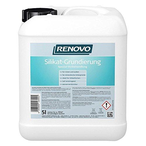 Silikat Grundierung 5 L Renovo Voranstrich für Silikatfarben