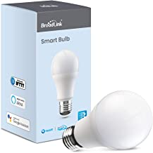 Broadlink LB1 Wi-Fi Smart Light Bulb Dimmable Home Automation Devices, Works with Alexa, Google Assistant, IFTTT, No Hub R...