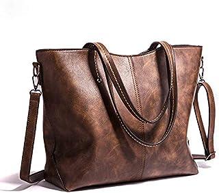 Only50 Bolso Mujer shopper piel suave y resistente al agua. COLOR MARRÓN CHOCOLATE. Se puede llevar a mano o colgado de un...