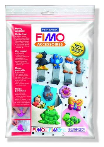 Staedtler 8742 09 Fimo Motiv-Form (lustige Tiere, anspruchsvolle Motive zum detailgetreuen Bemalen, für Modelliermassen wie FIMO classic, FIMO soft, FIMO effect, FIMOair basic, FIMOair)