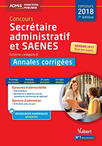 Concours Sa Et Saenes Annales Corrigees Categorie B Admis Concours 2018