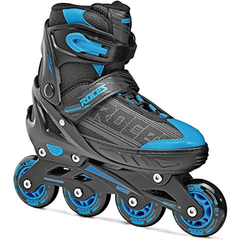 Roces 400810Herren Modell Jokey 1.0Verstellbare Inline Skate, Uns 13jr-2, schwarz/Astro blau