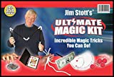 Jim Stott's 'Ultimate Magic Kit' for Kids of All Ages with,Magic Cards Box, Svengali Card Deck, The 3 Rope Mystery, The Incredible Levitation System, Magic Sponge Balls, Magic Pen Penetration