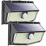 300 LED Solar Lights Outdoor[2 Pack] Solar Motion Sensor Lights with 3 Modes 270º Wide Angle IP67 Waterproof Solar Powered Lights for Garden Fence Door Yard Garage Pathway