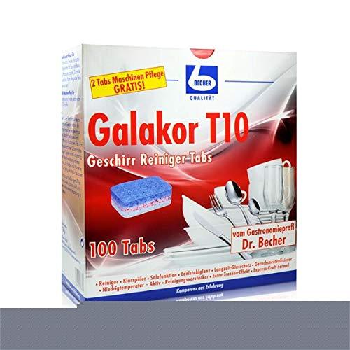 Dr. Becher Galakor T10 Geschirr Reiniger Tabs 100 Tabs