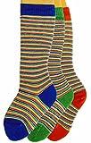 Shimasocks Baby Kniestrümpfe Ringel 3er Pack, Größe:17/18 bzw. 74/80, Farben alle:Feinringel