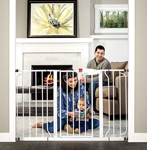 Regalo 56-Inch Extra WideSpan Walk Through Baby Gate Bonus Kit Includes 4-Inch