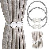 PINOWU - Lote de 2 cordones de sujeción magnéticos para cortinas,...