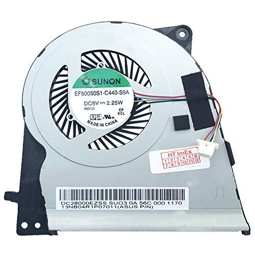 (GPU Version) Lüfter Kühler Fan Cooler kompatibel für ASUS ZenBook UX303LN-DQ112H, UX303LN-R4290P, UX303UB-R4021T, UX303UB-R4076T, UX303LA-C4164H, UX303LA-R4286T, UX303LA-RO340H