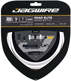 Jagwire Road Elite Sealed Shift Cable Kit White, One Size