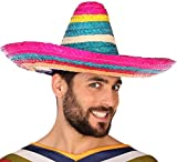 Atosa-59006 Sombrero Mexicano Paja, multicolor, única (59006)