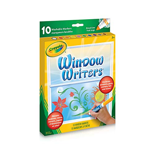 Crayola 56-9704 Washable Window Markers, Craft Supplies, Drawing Gift for Boys and Girls, Kids, Teens Ages 5, 6,7, 8 and...