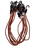 Kotap MABC-48 All- Purpose Adjustable Bungee Cords with Hooks, 48-Inch, Orange/Black, 10 Count