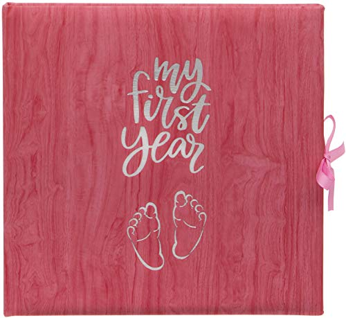 Baby's My First Year Record Logbuch zum Gedenken der Geburt durch das erste Jahr auf der Erde, Pink