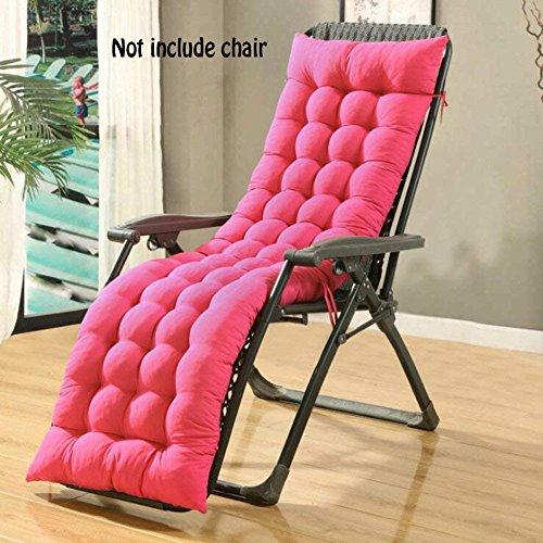 Auflage für Sonnenliege, Liegestuhl Stuhlkissen, dicker Bezug für den Außengebrauch(Nicht enthalten Stühle), rose gold, 160*48*8CM