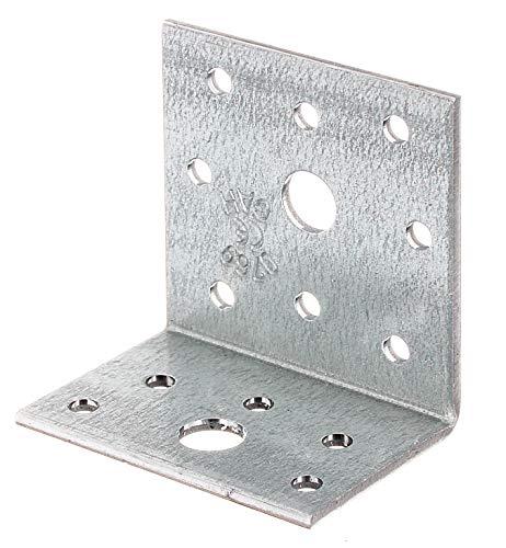 GAH-Alberts 332525 Winkelverbinder | sendzimirverzinkt | 40 x 60 x 60 mm | 6er Set