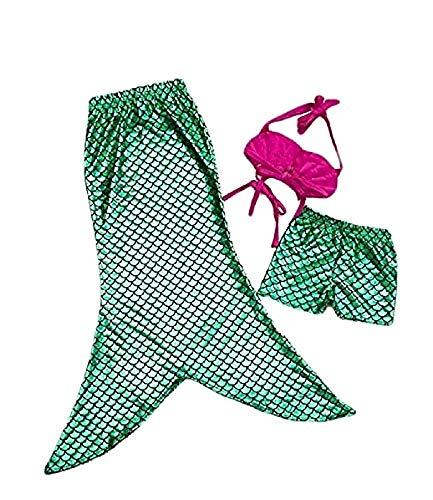 Lovelegis Traje de bao  Sirenita  apto para nia  Color verde  Compuesto por top corto  cola abierta Verde 4-5 aos