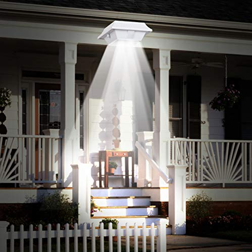 T-Sunrise LED Solar Gutter Light Solar Powered Impermeabile White Fence Wall Light Per Garden Yard Roof Security Lampada Del Sensore Solare