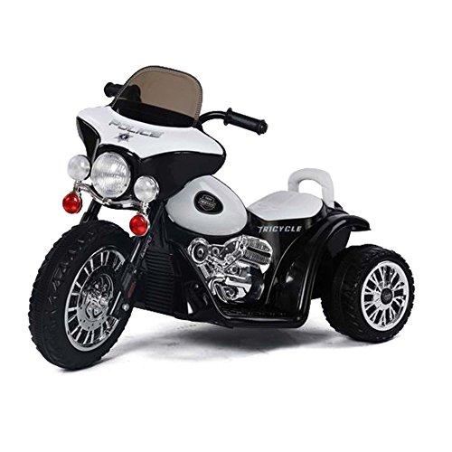 """'Niños eléctrico motocicleta moto de policía """"Police de Edition con iluminación, efecto de sonido, 6V Power Batería y motor"""