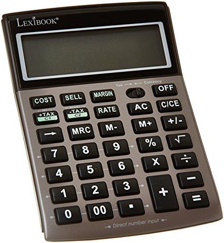Scopri offerta per Lexibook PLC251 - Calcolatrice con Schermo a 12 Cifre, Funzioni tradizionali e avanzate, Schermo inclinato, Ufficio, batteria inclusa, Grigio/Nero