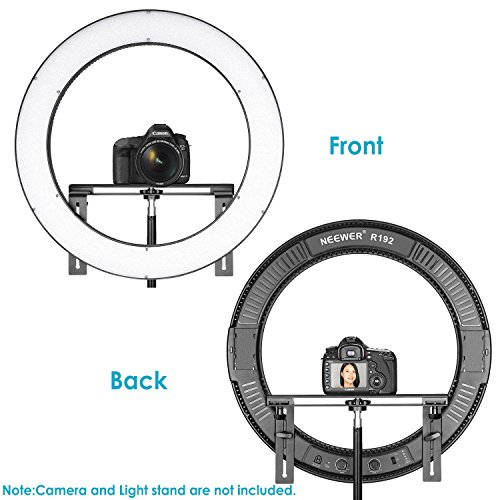 Neewer 19 inches Ring Light Dimmable Bi-Color LED Lighting Kit with Stand Bracket, 192 LED Beads, 3200-5600K, CRI 96+ for Studio YouTube Video Photography (AC/Battery Powered, Battery Not Included)