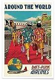 """Juniqe® Musik Reise Poster 60x90cm - Design """"Around The"""