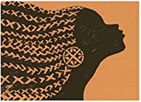 DMFNGJSD 数字油絵 フレームレス 、数字キット塗り絵 手塗り DIY絵-女性のシルエット-デジタル油絵 40x50 cm