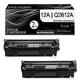2-Pack (Black) 12A   Q2612A Compatible Toner Cartridge Replacement for HP Laserjet 1020 (Q5911A) 1022 (Q5912A) 1022n (Q5913A) 1022nw (Q5914A) 1010 (Q2640A) 1012 (Q2641A) Printer Toner Cartridge.
