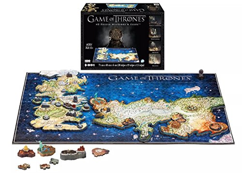 Game of Thrones 4D Puzzle of Westeros & Essos