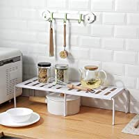 家庭用品 家庭用リトラクタブルプラスチック階層ストレージラック、サイズ:36x24x15cm(グレー) (Color : White)