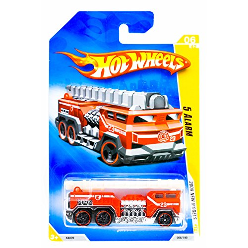 Hot Wheels 2009 New Models 5 Alarm Red Fire Truck Engine with Ladder