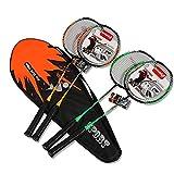 LEICH 2pcs New Carbon Badminton Racket émincé Le Top Vitesse Type d'attaque intégré spécial for Les athlètes Concours...