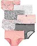 Carter's Girls' Little 7-Pack Underwear, Animals, 10-12