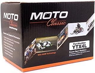 Moto Classic YTX4L 12V 4.5Ah Maintenance Free Sealed AGM 90CCA Battery w/ 30 Mo. Warranty Coverage
