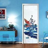 ドアステッカー クリエイティブ3DドアステッカーPVC防水ドアの改修壁画自己接着プリント傘ピクチャーDIYホームデコレーションステッカー (Size : 77x200cm)-95x215cm
