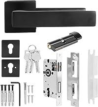 Nicoone Deurslotset, verstelbare eenvoudige zwarte slotcilindergreep set sleuteldeurknop accessoire met 3 stuks sleutels, ...