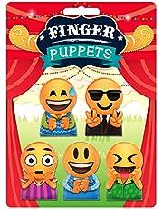 HENBRANDT 5 różnych zabawnych lalek na palec nastrojowych twarzy