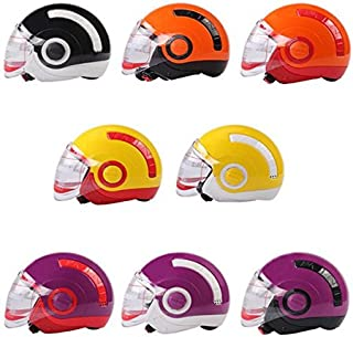 RISHIL WORLD Motorcycle Racing ABS Unisex Half Helmet for Yohe Single Item.