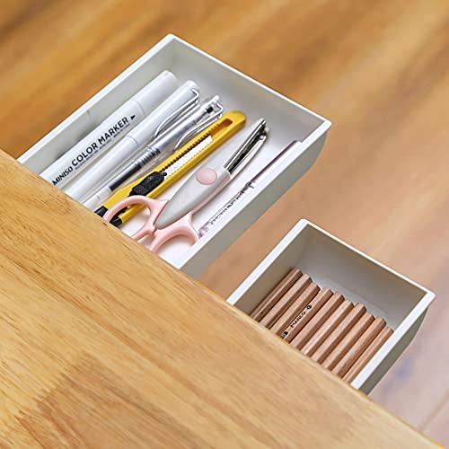 2 Pack Under Desk Drawer, Desk Accessories & Workspace Organizer, Pencil Holders, Hidden storage...